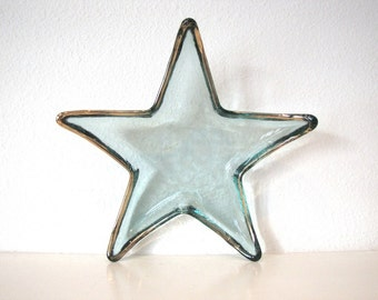 VINTAGE STAR DISH, Christmas Tabletop, Holiday Decor, Fourth of July Serveware, 4th of July Candy Dish, Stars and Stripes