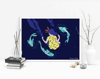 Fishes and Swing - Poster