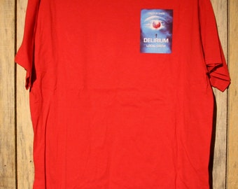 Vintage Cirque Du Soleil Delirium Local Crew Circus Red Shirt Adult Size XL +