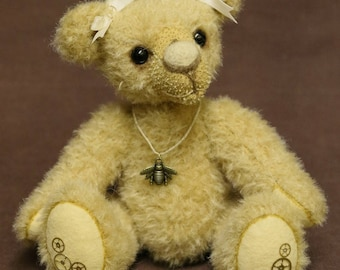 "OOAK artist bear, mohair bear, handmade by Brierley Bears ""Beatrix"""