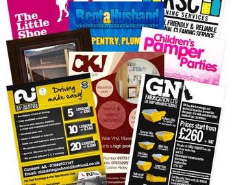 A6 Double Sided Leaflets - Design and Print on 150gsm gloss art paper