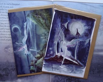 Moonlit Night pack of 2 A5 Art Card