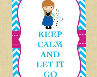 Anna and Olaf Keep Calm Art