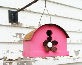 Rustic Birdhouse - Outdoor Bird House - Wooden Birdhouse - Birdhouses - Bird Houses