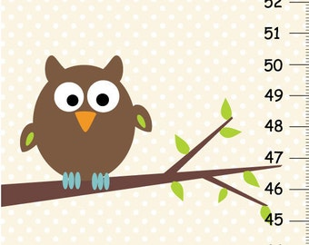 Personalized Nature Owl Canvas Growth Chart