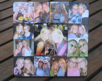 """Maid of Honor Collage Picture Frame, Personalized Sister Gift, Custom Collage Bridesmaid Frame, Best Friend Gift Frame, Birthday, 8"""" x 8"""""""
