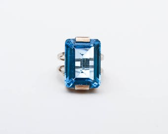 Use Code NEXT0RDER to get 10% off+ Free Shipping London Blue Topaz Ring, Blue Topaz Stone,  Solitaire Ring, Gemstone Ring,