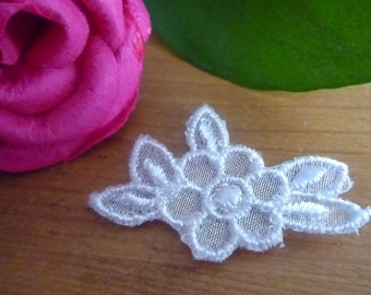 Applied flower white lace sewing 3.50 * 2.00 cm