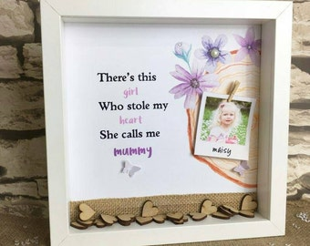 Mother's Day Gift Box Frame Customized Gift Shadow Box Frame - Home Decor - Alternative Photo Frame