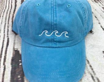 Waves hat, Beach waves baseball hat, Waves cap, Beach hat, Ocean hat, Spring break hat, Ocean waves hat, Baseball cap