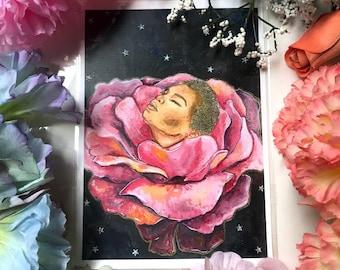 Cosmic Bloom Art Print