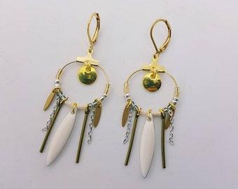 """""""The white Gypsy"""" earrings"""