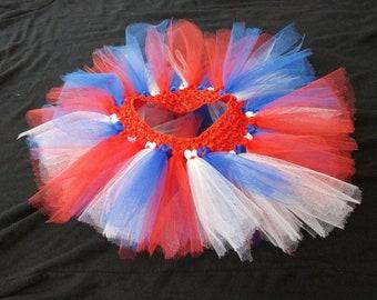 Red White and Blue Patriotic Tutu