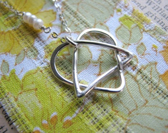Celtic Adoption Triad Necklace - Regular size - Adopt a Pet - the Adoption Necklace in Sterling Silver