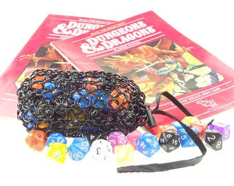 Dungeons And Dragons Black Chainmaille Dice Bag - Warhammer 40K - Large Pouch