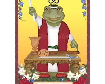 Loveland Frog as The Magician Cryptozoology Tarot Print