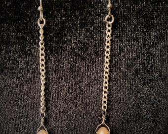 Single Pearl Dangle Earrings