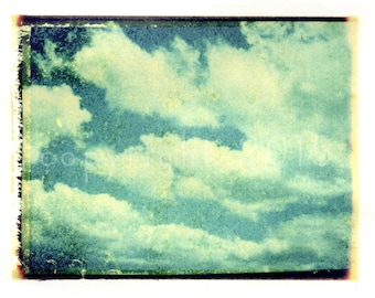 Polaroid transfer - Clouds