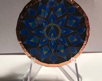 Blue Flame Mandala Disc