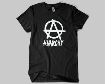 ANARCHY T-SHIRT - Punk Rock Tshirt -  Premium Quality ! - Made in London / Fast Delivery to the Usa , Canada , Australia & Europe !