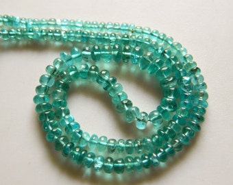 Apatite Rondelle Beads, Blue Apatite Beads, Green Apatite, 4mm To 7mm Beads, 18 Inch Strand