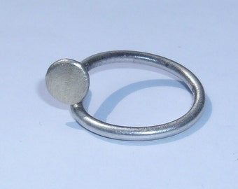Sterling silver Nail Spike Ring