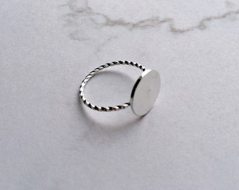 Dot ring SILVER Minimalist rings, matt