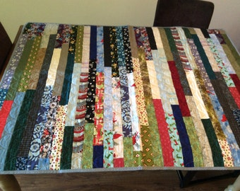 New, original, jelly roll scrappy quilt.  Lap quilt.  Perfect for any couch! FREE SHIPPING