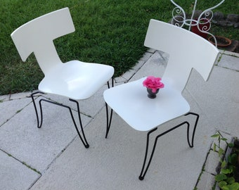 LACQUERED KLISMOS CHAIR / Donghia Klismos Chair / 2 available / Mid Century Modern style at Retro Daisy Girl