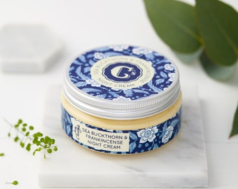 Natural Beauty Cream - Face Moisturizer - Frankincense - Sea Buckthorn - Face Cream - Sea Buckthorn Cream - Natural Face Cream-Vegan cream
