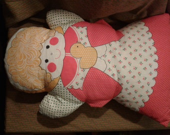 Vintage Retro Pillow Pal made from panels