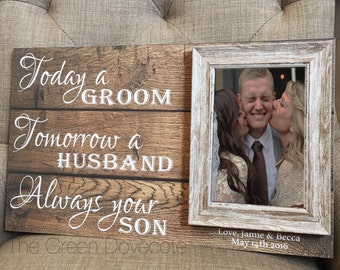 Grooms Parents Gift - Parents Wedding Gift - Mother Of Groom Gift - Gift For Parents - Personalized Mother In Law Gift - Wedding Gift