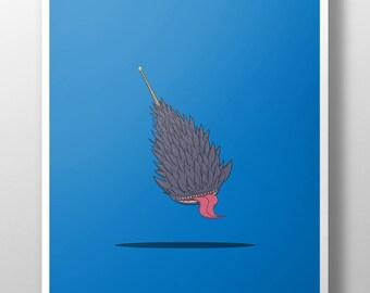 Naruto Samehada Sword Print, Art Poster, Art Illustration, Wall Decor, Minimal Design