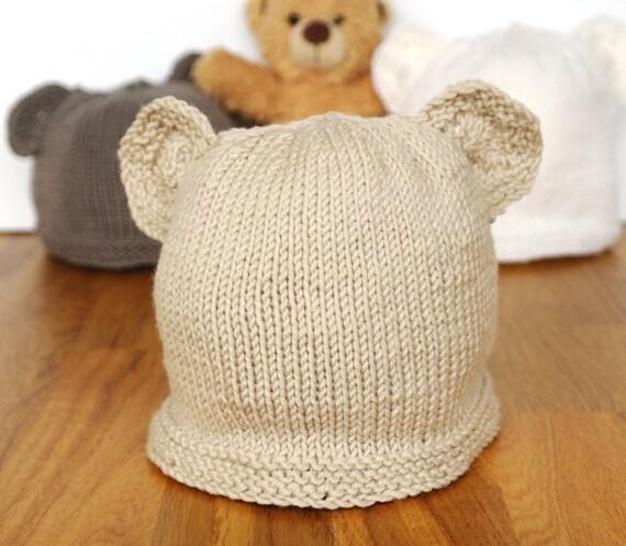 Bear Ear Hat Knitting Pattern Hat