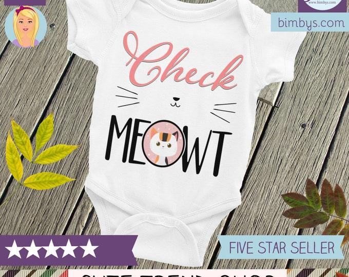 Cat Onesie, Baby Onesie - Cute Baby Onepiece - cat baby shower, crazy cat baby, cat shirt, cat baby onesie, funny baby clothes