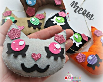 CAT Garland - any colours - kitty kitten cat banner bunting