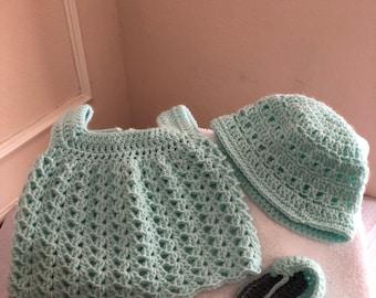 Mint green newborn Dress