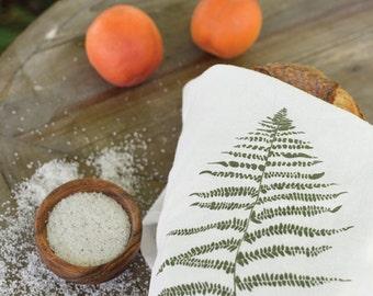 Wood Fern Towel : Flour Sack Cotton Tea Towel