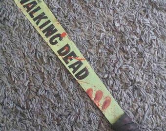 The walking dead machete hand painted