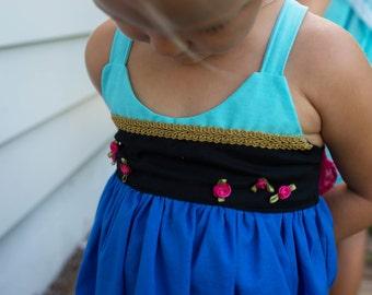 Blue/black Practical Princess