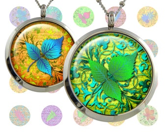 leaf  Digital Collage Sheet  1inch/1.25inch/1.5inch inch size Circle Images Printable Download for pendants bottlecaps magnets