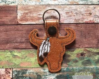 Buffalo Head Keychain