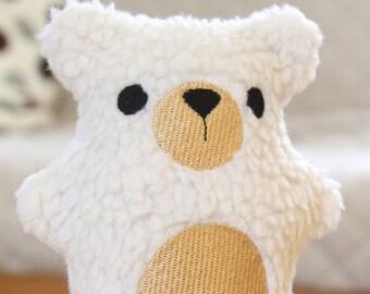 Polar Bear Handmade & Personalized - Fuzzy Plush Bear
