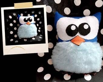 Plush Stuffed blue OWL APLUCHES