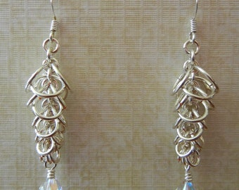 Cascade Chainmaille Earrings