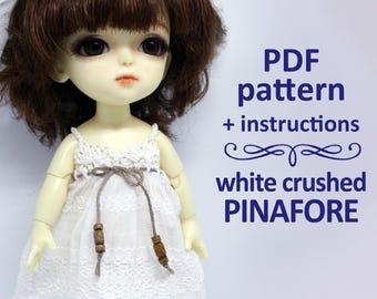 Pattern Сrushed cotton pinafore sarafan dress for Lati yellow / Pukifee
