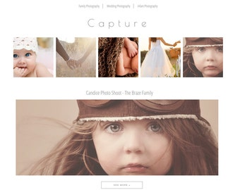 NEW - Photography Blog Template | Responsive Blogger Template | Premade Photography Template Blogger