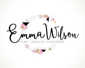 Logo Design Branding Package Premade Graphics Custom Text