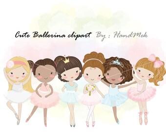 Ballerina clipart , girl ballet, dancing,black girl clipart,instant download PNG file - 300 dpi