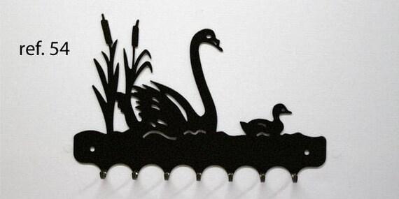 Key grip metal motif: Swan